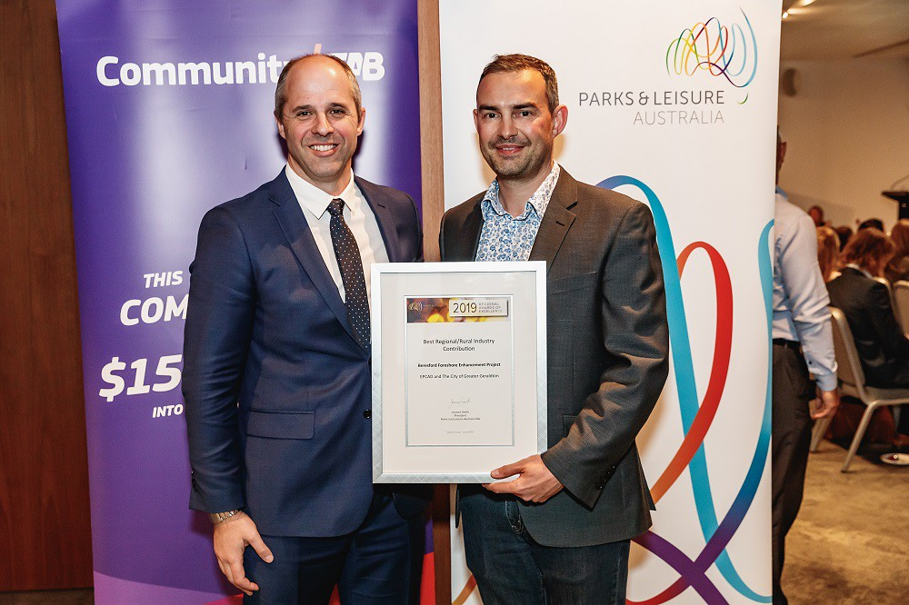 EPCAD and City of Greater Geraldton win Community TAB Parks & Leisure WA Award thumbnail
